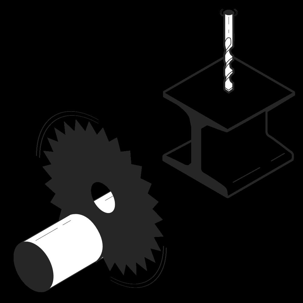 metaal-zagen-zaag-boor-kolomboor-tafelboor-boren-metallurgie-scie-percer-perceuse-colonne-table-ponceuse